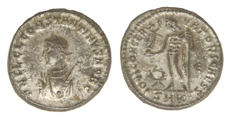 Ancient Coins - Constantine II Ae. 3 (silvered)