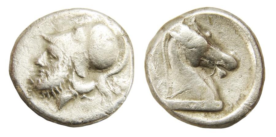 Ancient Coins - Roman Republic, pre-denarius coinage, Ar. didrachm (280- 276 BC)