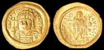 Ancient Coins - Justinian I Au. solidus (AD 527-565)