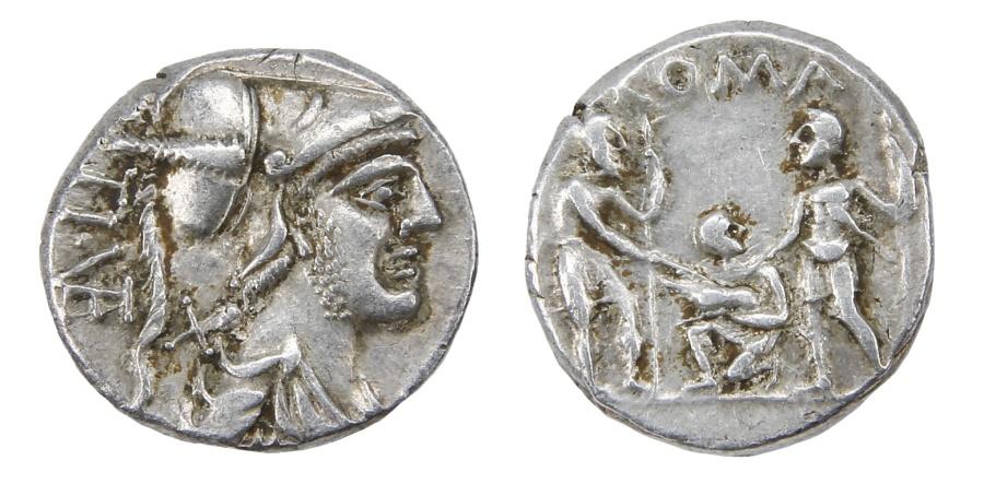 Ancient Coins - Ti. Veturius Ar. denarius (137 BC)