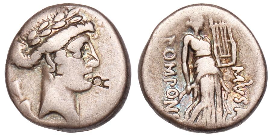 Ancient Coins - Q. Pomponius Musa Ar. denarius