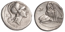 Roman Republic Ar. denarius – unnamed (115 – 114 BC)