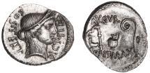 Julius Caesar Ar. denarius (46 BC)