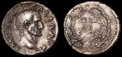 Ancient Coins - Galba Ar. denarius - rare