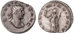 Ancient Coins - Gallienus billon antoninianus (AD 260-261)