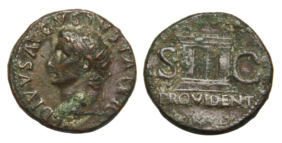Ancient Coins - Augustus Ae. as (posthumous issue)
