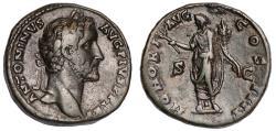 Ancient Coins - Antoninus Pius Ae. sestertius (AD 146)