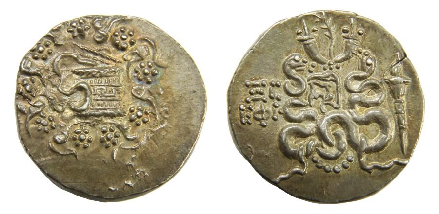 Ancient Coins - Ionia, Ephesos Ar. tetradrachm (cistophoric type)